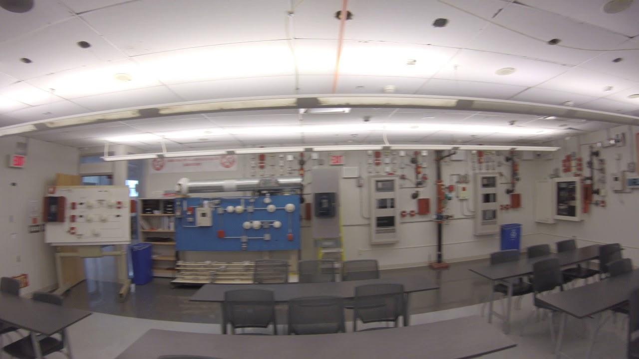 Fire Alarm Lab view mid-renovation