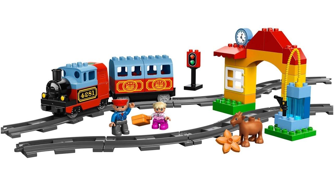 Железная дорога и мой первый поезд Лего Дупло - Игрушки для мальчиков - Видео для детей