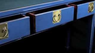 Seyoki Re-pro Chinese Blue Desk