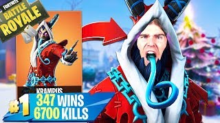 🔴 FORTNITE LIVE Lv.69 NEW SKIN KRAMPUS! I want to UNBLOCK TROOOOOG!