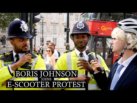 ELECTRIC SCOOTER PROTEST WITH BORIS JOHNSON  🛴🇬🇧(LONDON PRANK)