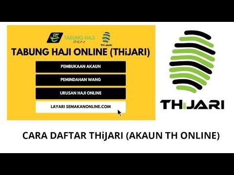 Cara Semak Baki Akaun Th Tabung Haji Secara Online Daftar Thijari Youtube