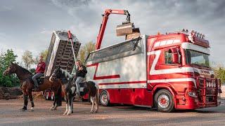 Paardenmest vervoeren en brullen met de Scania R580 van G&J van Leeuwen! 🐴💩