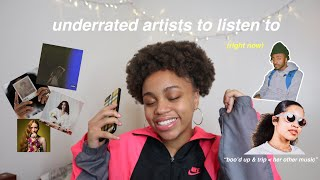 underrated artists & songs you NEED to listen to