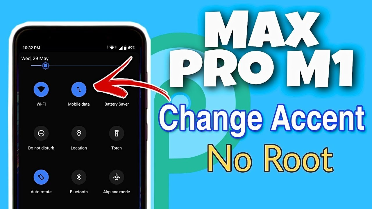 Asus Max Pro M1 Change Accent Color without ROOT | Android PIE