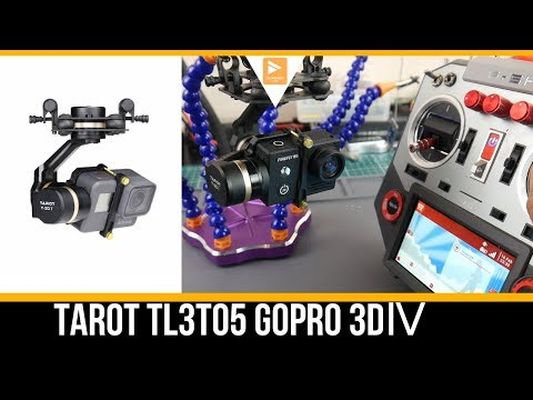 Tarot TL3T05 Gopro 3DⅣ for Gopro Hero 5/6/7 Bench Review and Setup // Camera Drone Gimbal