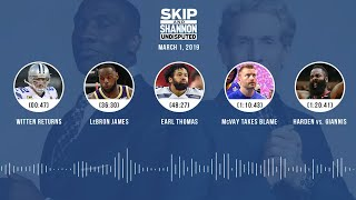 UNDISPUTED Audio Podcast (03.01.19) with Skip Bayless, Shannon Sharpe & Jenny Taft | UNDISPUTED