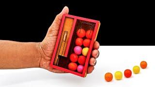 DIY Mini Pocket Gumball Dispenser From Cardboard