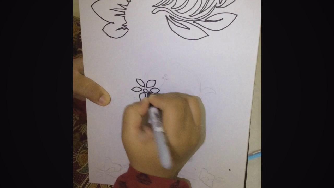 Lukisan Corak Wau Simple