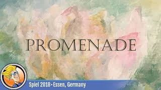 Promenade — game preview at SPIEL '18