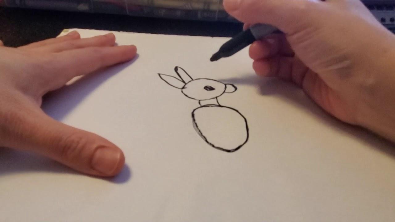 Bé tập vẽ Chuột Túi _ How to draw Kangaroo.