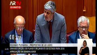 03-11-2017 - Debate na Generalidade OE 2018 | 2ª Resposta do Ministro das Finanças a Deputados