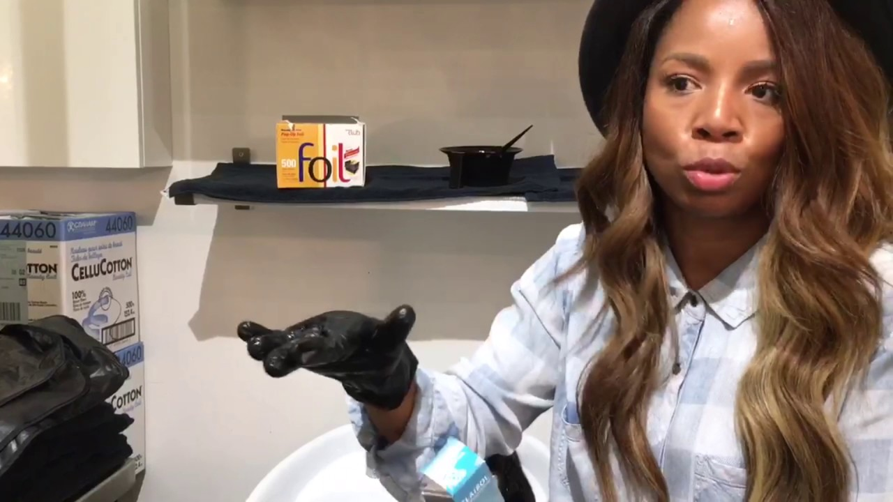 How To Color Hair Extensions Brown To Blonde Highlights Kiyah