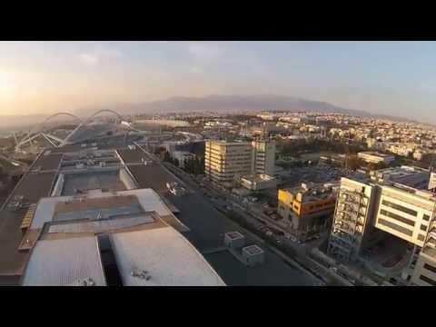 DJI PHANTOM 2 VISION PLUS GOLDEN HALL & OLYMPIC STADIUM ATHENS Aerial View
