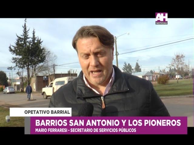 MARIO FERRARESI   SECRETARIO DE SERVICIOS PUBLICOS   OPERATIVO BARRIAL EN LOS BARRIOS SAN ANTONIO Y