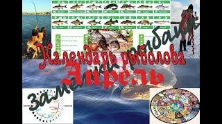 видео Календарь рыболова на  апрель