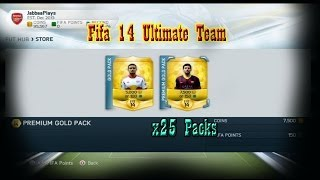 fifa 14 ultimate team small pack opening x25 packs