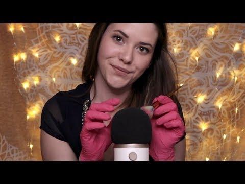 ASMR Hilfe beim Einschlafen ♡ Tapping & Brushing with Gloves [deutsch/german]
