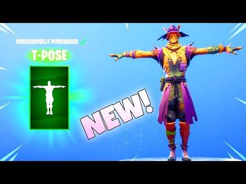 NEW! HAY MAN/STRAW OPS SKINS! (NEW T-Pose EMOTE Item Shop) Fortnite Battle Royale