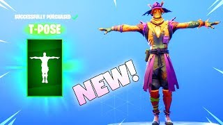 NEW! HAY MAN/STRAW OPS SKINS! (NEW T-Pose EMOTE Item Shop) Fortnite Battle Royale