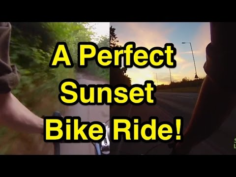 A Perfect Rural, Industrial & Urban Sunset Bike Ride!