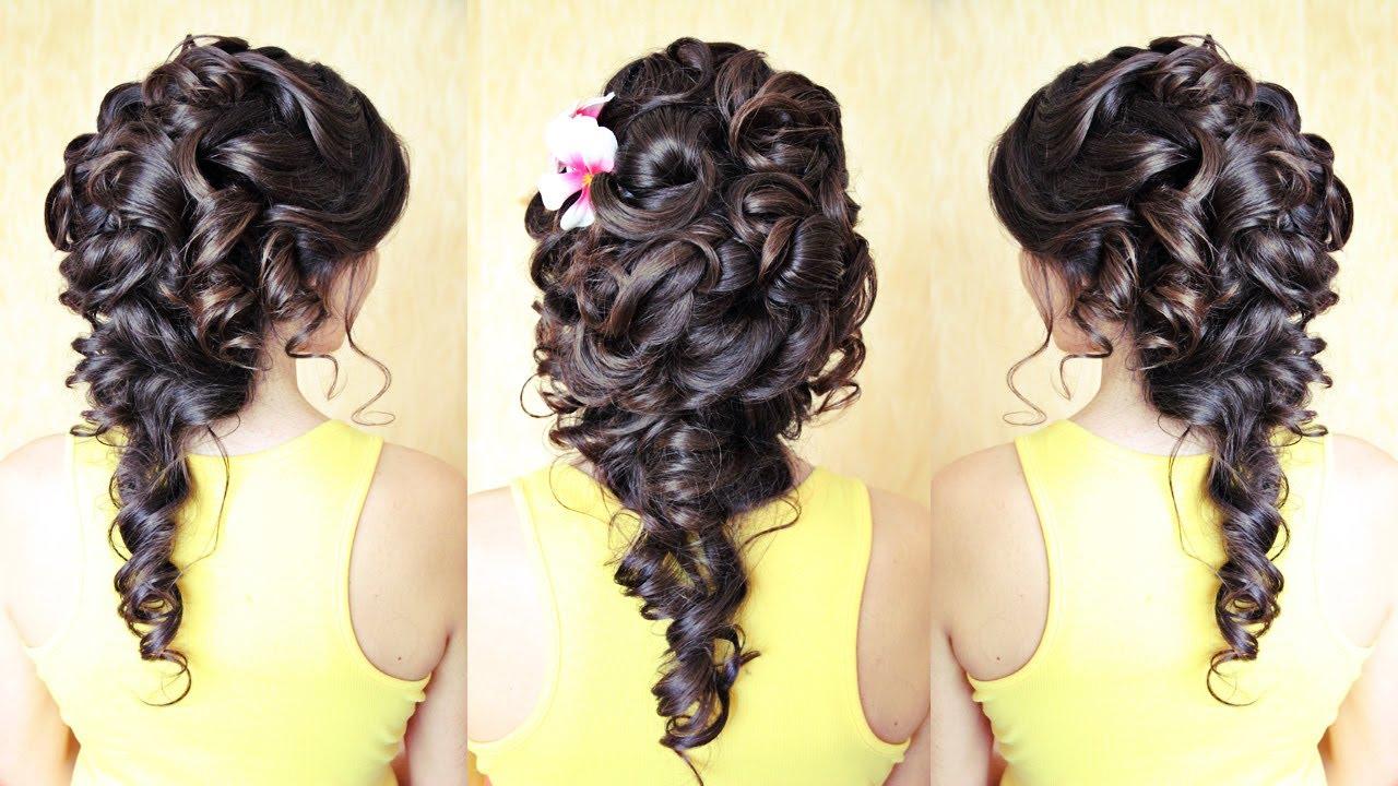 Свадебная причёска на тёмные волосы