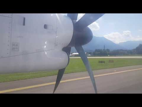 ONBOARD !! Eurowings Dash8 Q400 From Dusseldorf Airport To Salzburg Airport