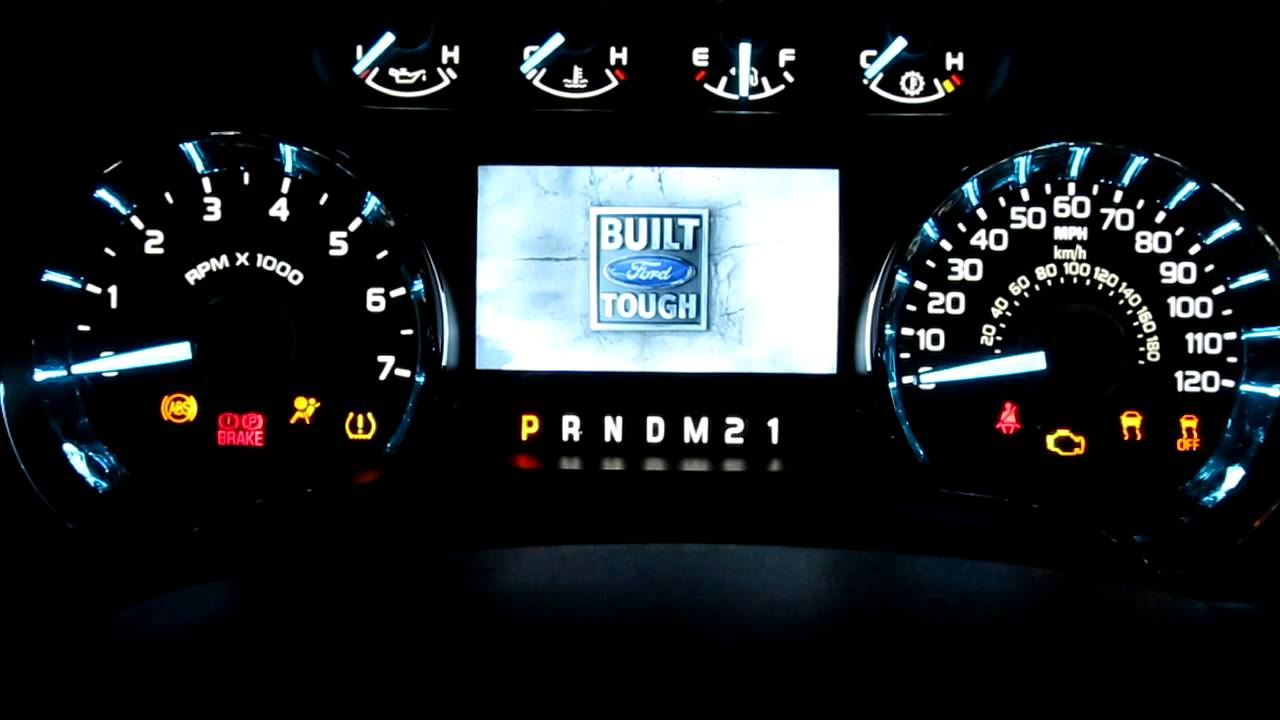 2011 Ford F-150 Instrument Cluster LCD Startup Display - YouTube