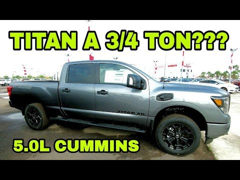 2018 Nissan Titan Xd Cummins A Real 3 4 Ton Truck Let S See Youtube