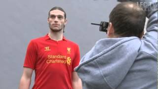 Liverpool players model the new 2012-13