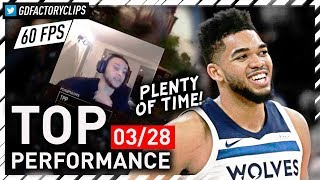 SIMMONS WAS RIGHT! Karl-Anthony Towns EPIC Career-HIGH Highlights vs Hawks - 56 Pts | 2018.03.28