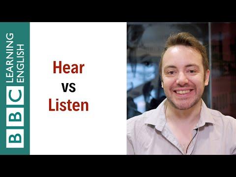 Hear vs Listen - English In A Minute