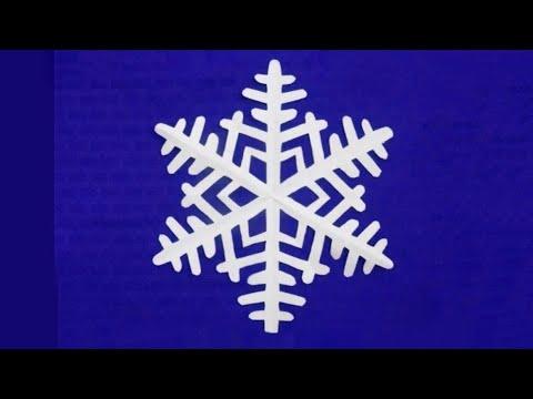 Как вырезать снежинку из бумаги. How to cut a paper snowflake
