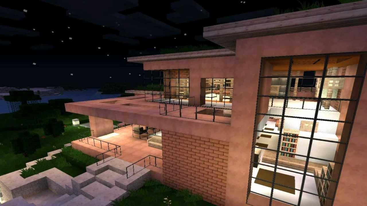 Minecraft modern house 2 Modernes Haus HD  YouTube