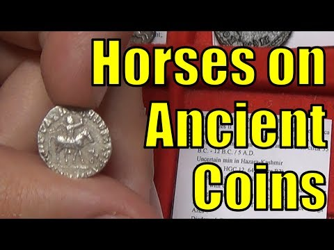 HORSES on Ancient Greek & Roman COINS including Races, Chariots & Pegasus