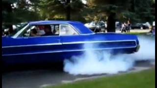 Impala 409 Burnout old school with fire