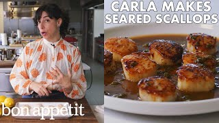 Carla Makes Seared Scallops with Brown Butter & Lemon Sauce | From the Test Kitchen | Bon Appétit