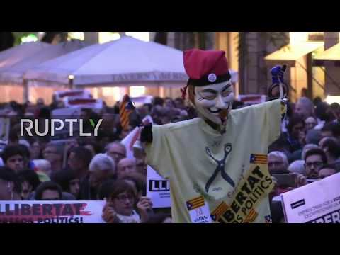 LIVE: Pro- Catalan independence protesters rally in Barcelona