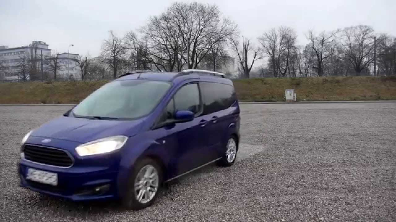 (ENG) Ford Tourneo (Transit) Courier 1 0 EcoBoost - Test Drive and Review