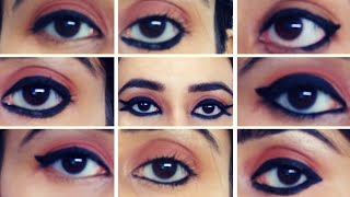 10 Different EyeLooks Using Just Kajal || How To Apply Kajal In Different ways || SWATI BHAMBRA