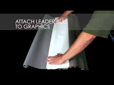 Silver Step Retractable Banner Stand Graphic Set up