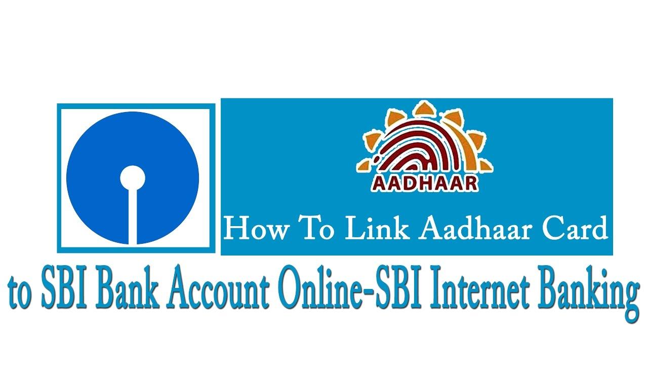 how to add aadhaar card to sbi bank account online