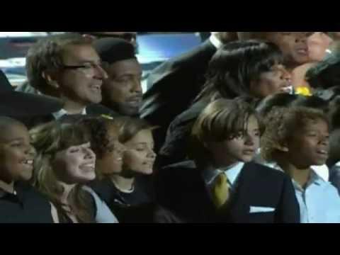 JUDITH HILL  sings lead  HEAL THE WORLD @ Michael Jackson Memorial, Staples Centerflv