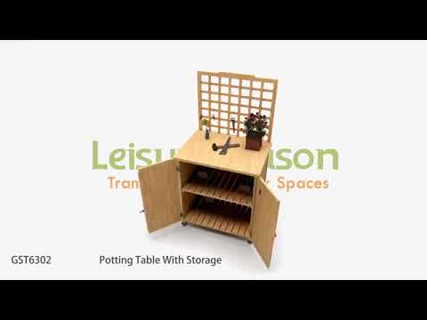 Leisure Season Potting Table With Storage Gst6302 Shedsdirect