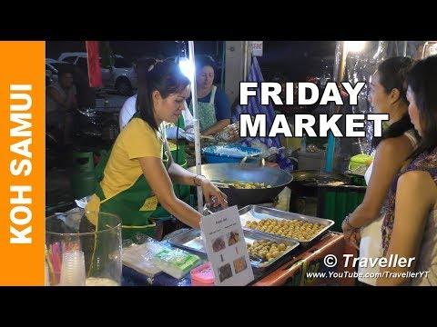 Koh Samui attractions – Thai Street food – Fisherman´s Village Night Market – Travel Video