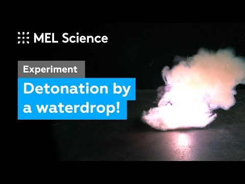 This Explosive Detonates From A Waterdrop (
