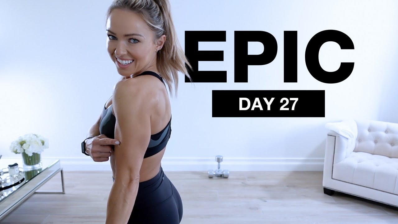 Day 27 of EPIC   Arms & Abs Workout [DUMBBELLS + BODYWEIGHT]
