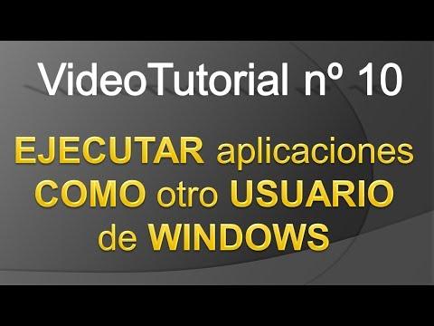 TPI - Videotutorial nº 10 - Como ejecutar aplicaciones como otro usuario en Windows 7