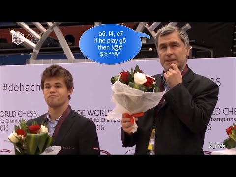 Top Funny Moments (World Rapid & Blitz Chess Championship Ceremony 2016)