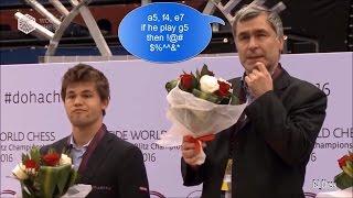 Top funny moments (world rapid & blitz chess championship ceremony 2016)